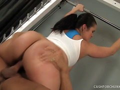 Hot Chunker Carmella Bing Railed HARD in the Gym!