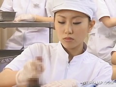 Japanese nurse working... video