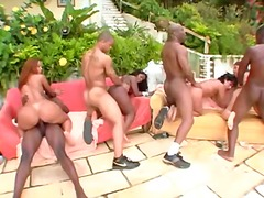 Latinas big fat ass orgy