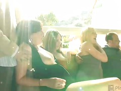 Wet slippery pussy, round bouncing breasts and huge drilling cocks is what's on the menu today at orgy sex parties. Watch as these busty business women skip their after work cocktails to instead get their asses bent over and bruised by a writhing ...