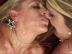 This is Moni's second spit scene, so she's warmed up a bit. It starts out with Chelsea spitting on Moni's beautiful feet and licking it back up. Things get slobbery as the ladies make out covered in saliva. Then Chelsea sucks up the spit with a st...