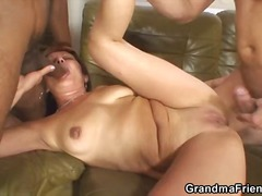 threesome, blowjob, mature,