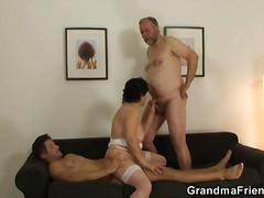 WinPorn Movie:Mature couple brings in young man