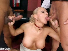 blonde, facial, threesome, caucasian, european, ass-licking, hetero, blowjob, white, deep-throat, green, ass, pussy-eating, double-penetration, cumshot, gaping