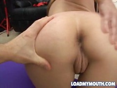 Sexy jizz swallowing video