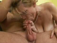 Blonde mom and boy video