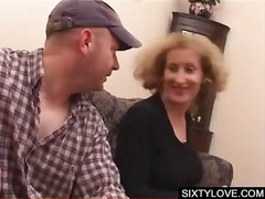 Blonde mature gets cun... video