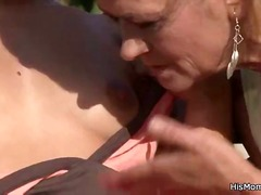 Mom and sons gf get it on