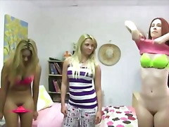 Naughty college teen turn lesbo
