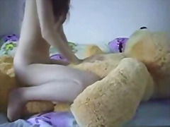 Teen Rides A Teddybear  preview