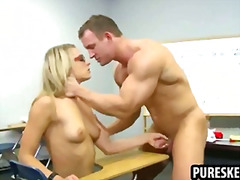Thumb: Blonde schoolgirl in g...