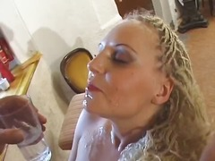 Blonde gets seduced by...