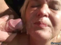 outdoor, cumshot, outdoors, granny, hardcore