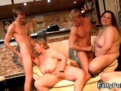 Fatty fuck party with drunken sluts