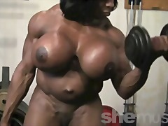 Ebony Female Muscle video
