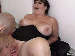 granny, blowjob, big, brunette