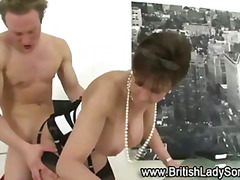 Mature stocking brit Sonia fuck and b...