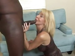 58 yo blonde Erica Lauren is giving a...