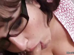mature, blowjob, amateur, brunette