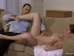 Hot girl eaten by bfs father