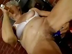 Thumb: Hairy Granny with dildos
