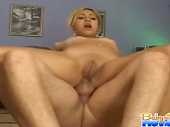 Small titty asian Kat ... video