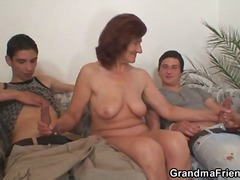 WinPorn Movie:Hard cock threesome with matur...