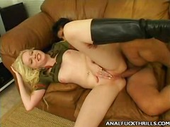 big-tits, anal, filled, oil, blonde