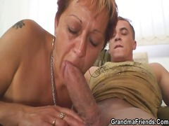 Nice grandmother takes... preview