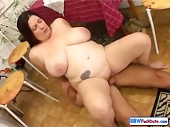 Chubby housewife gets ...