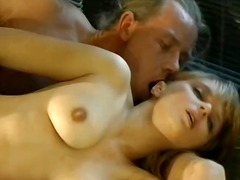 This gorgeous german blondie services her man's hard cock