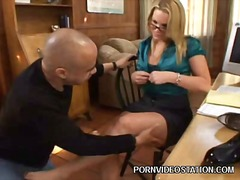 Blonde Pornstar Gives Foot... - 03:00