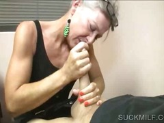 pov, blowjob, sucking, granny,