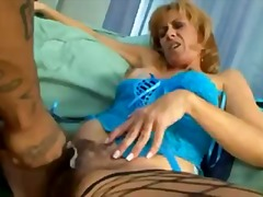 interracial, fingering, fake-tits