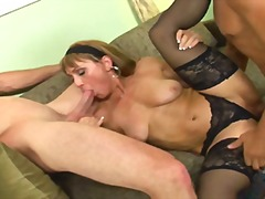 threesome, mature, anal, group,