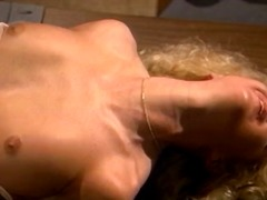Mature blonde eats his stiff tool and...
