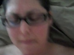 creampie, milf, cream, glasses