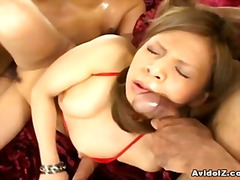 hairy, closeup, blowjob, threesome,