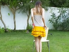 Ivana teen getting wet on the outdoor