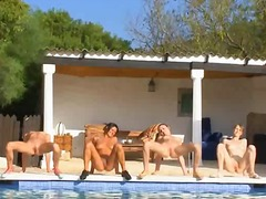 Six naked chicks by th... video