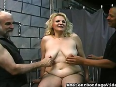 Chubby slut restrained