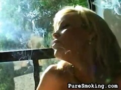 Topless smoker preview