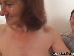 dee,  granny, blowjob, threesome,