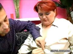 Lustful redhead plumper video