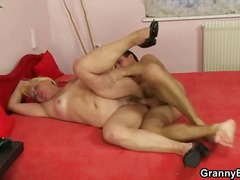 Pro Porn - Granny blonde banged big young dick