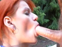 Redhead gets toyed as ... video