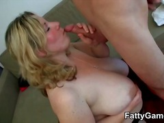 Lusty fat blonde and h...