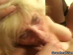 blonde, granny, blowjob,