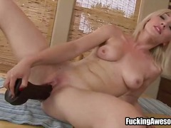 Will she explode? Don't ask, don't tell, just watch for Lily Labeau on this sizzling hot video, playing with her gigantic toy with her pussy.