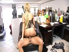 Win Porn - Blond secretary Donna Bell get a wild ride from her boss with big cock